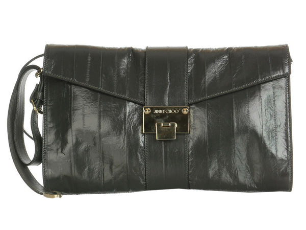 Jimmy Choo Dark Gray Eel Rivera Clutch
