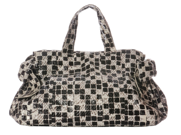 Miu Miu Checkered Snakeskin Bow Bag
