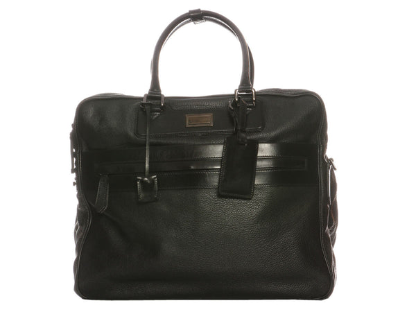 Burberry Black Leather Suitcase