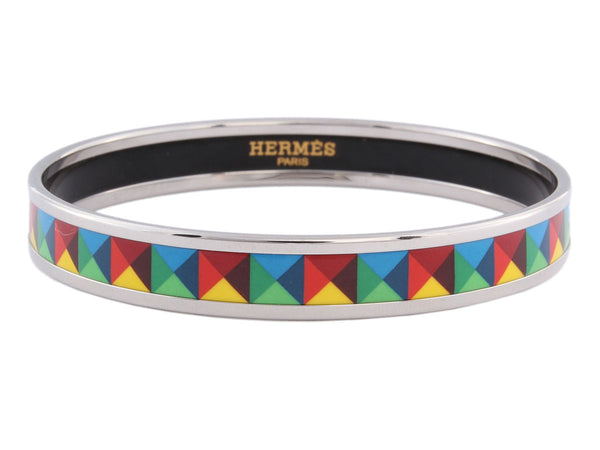 Hermès Narrow Clous en Trompe L'Oeil Bangle