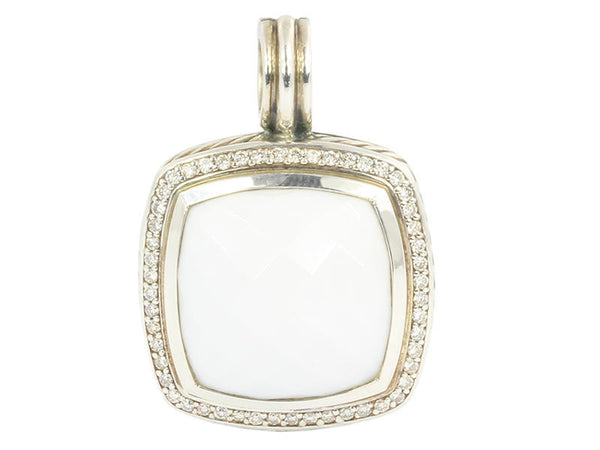 David Yurman White Agate Diamond Albion Enhancer