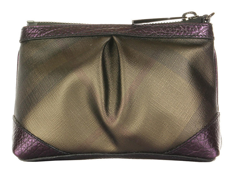 Burberry Metallic Blackberry Check Cosmetic Case - Ann s Fabulous Closeouts 1c5dd96414d4d