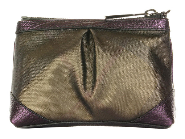 Burberry Metallic Blackberry Check Cosmetic Case