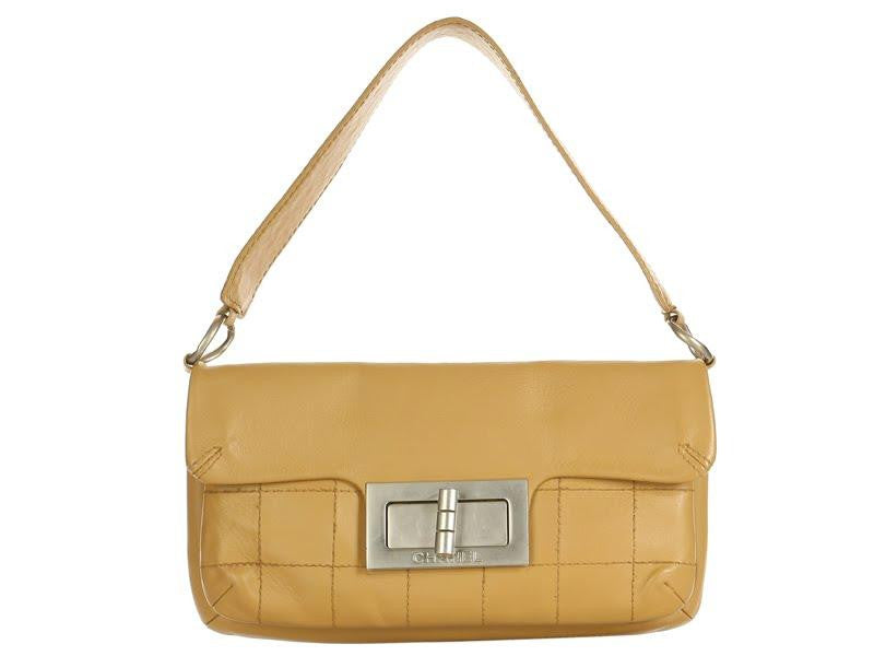 Chanel Tan Turn Lock Baguette