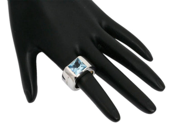 Pianegonda Blue Topaz Medium Deco Ring