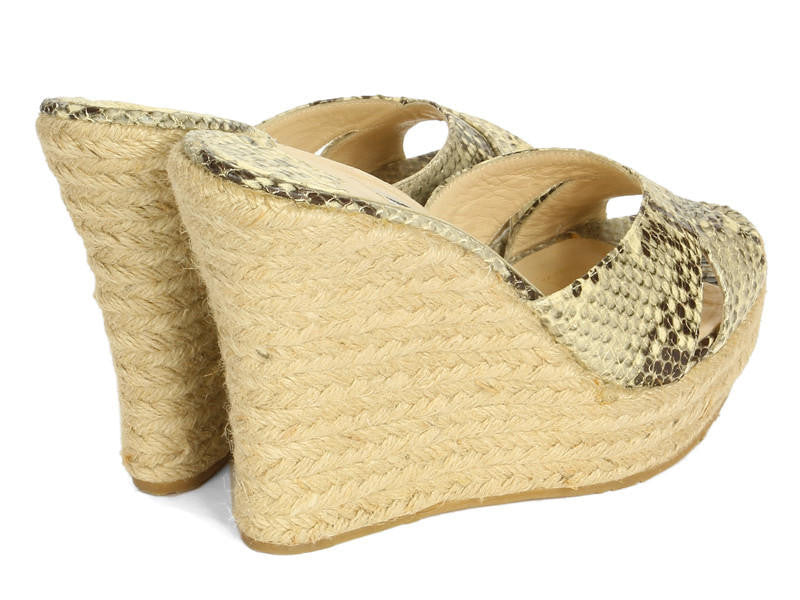 Jimmy Choo Snake and Raffia Espadrilles