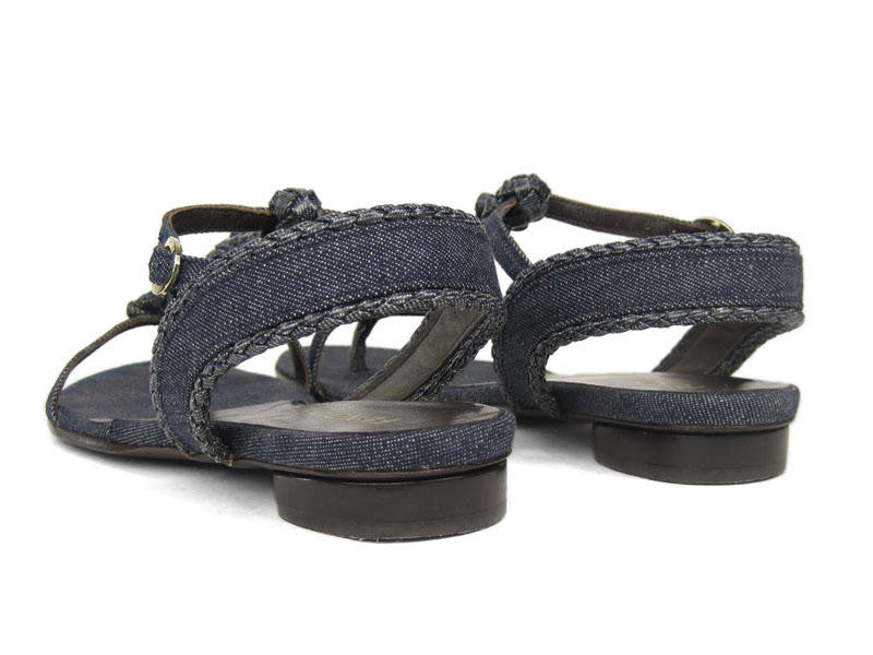 Fendi Denim Spy Sandals