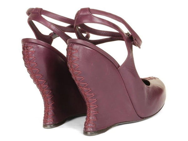 Bottega Veneta Boysenberry Wedge Platforms