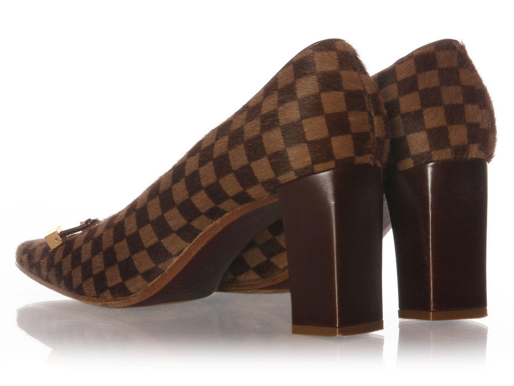Louis Vuitton Damier Ponyhair Pumps