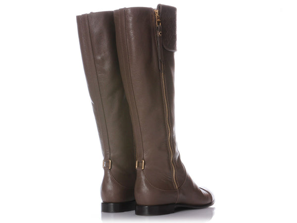 Louis Vuitton Brown Inspired Boots