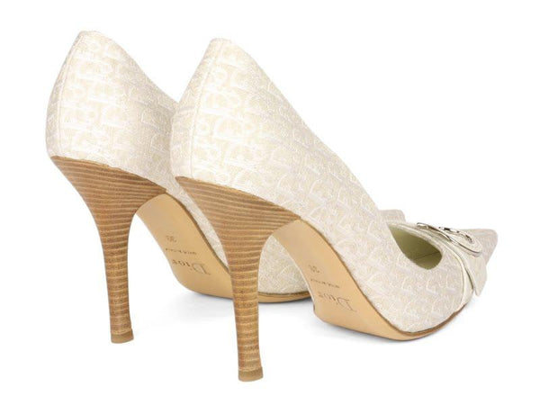 Christian Dior White Logo Pumps