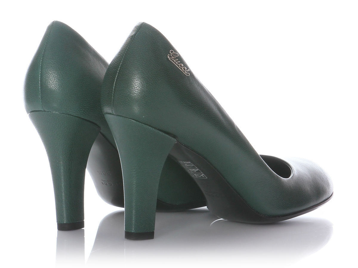 8e89d48a7617 Gucci Green Quentin Pumps - Ann s Fabulous Closeouts