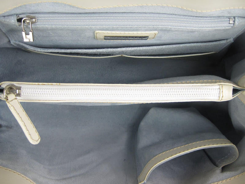 Lambertson-Truex White Leather Shoulder Bag