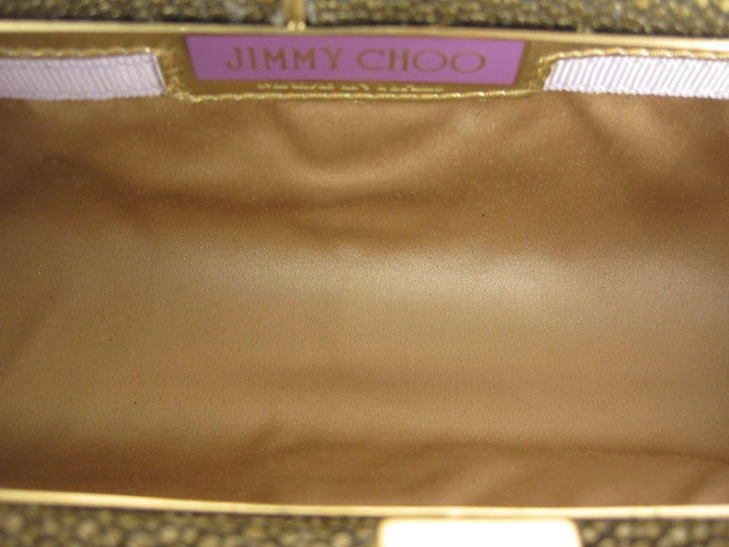 Jimmy Choo Antique Gold Stingray Clutch
