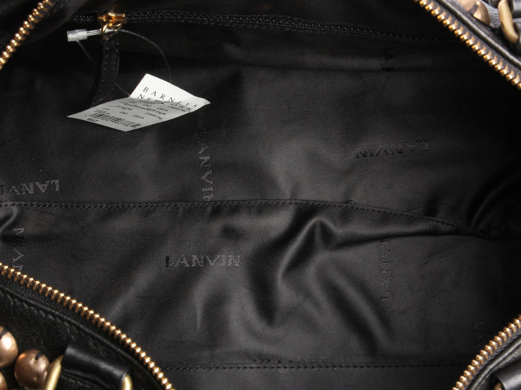 Lanvin Black Boston Jetset