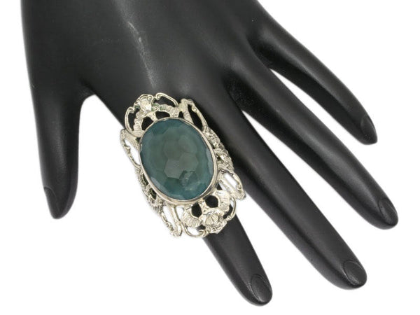 Stephen Dweck Large Blue Green Stone Ring