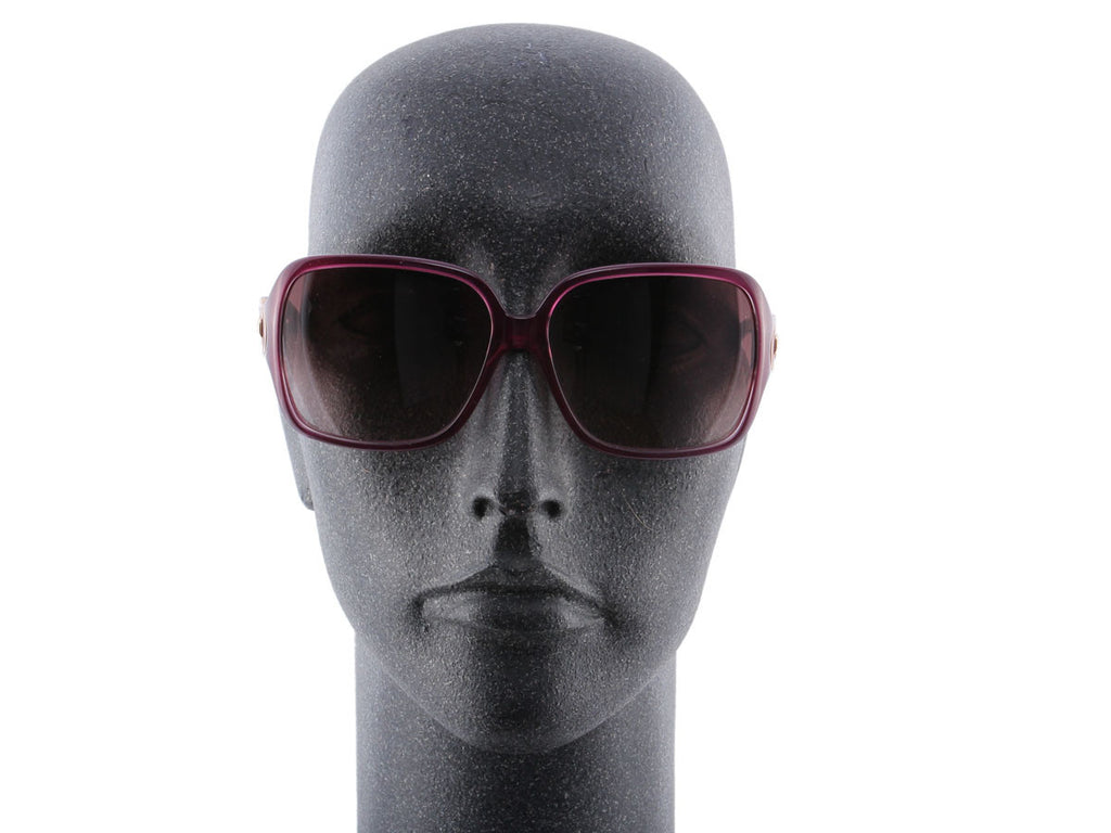 Ferragamo 2014 Plum Horsebit Sunglasses