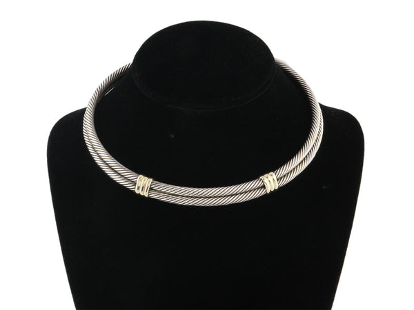 David Yurman Two Tone Cable Necklace