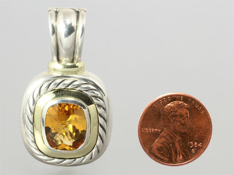 David Yurman Large Citrine Albion Enhancer