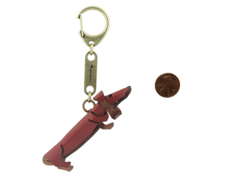Mulberry Dachshund Key Ring