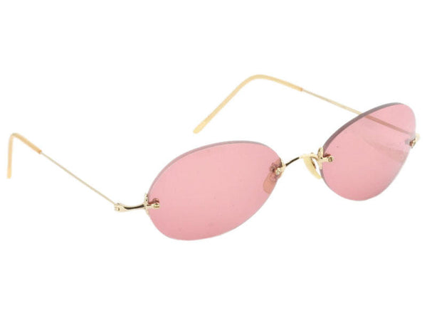 Oliver Peeples Pink Rimless Summer Sunglasses