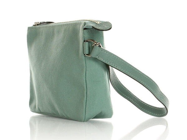 Hermès Light Blue Cotton Wristlet