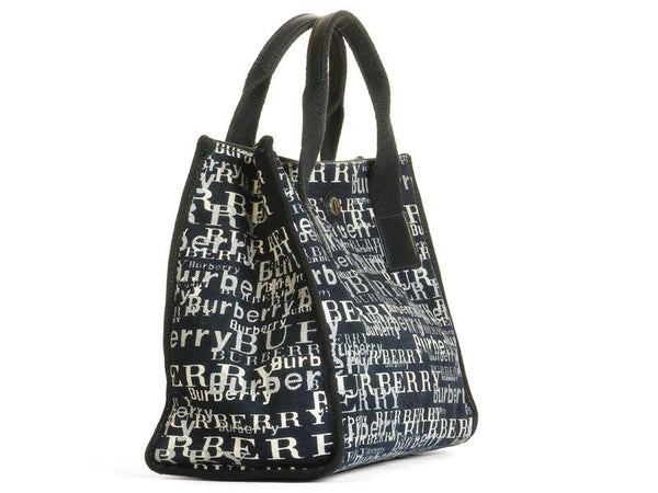 Burberry Small Black Canvas Tote
