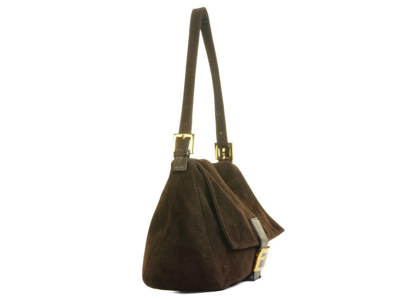 8773519a Fendi Brown Suede Mama Baguette