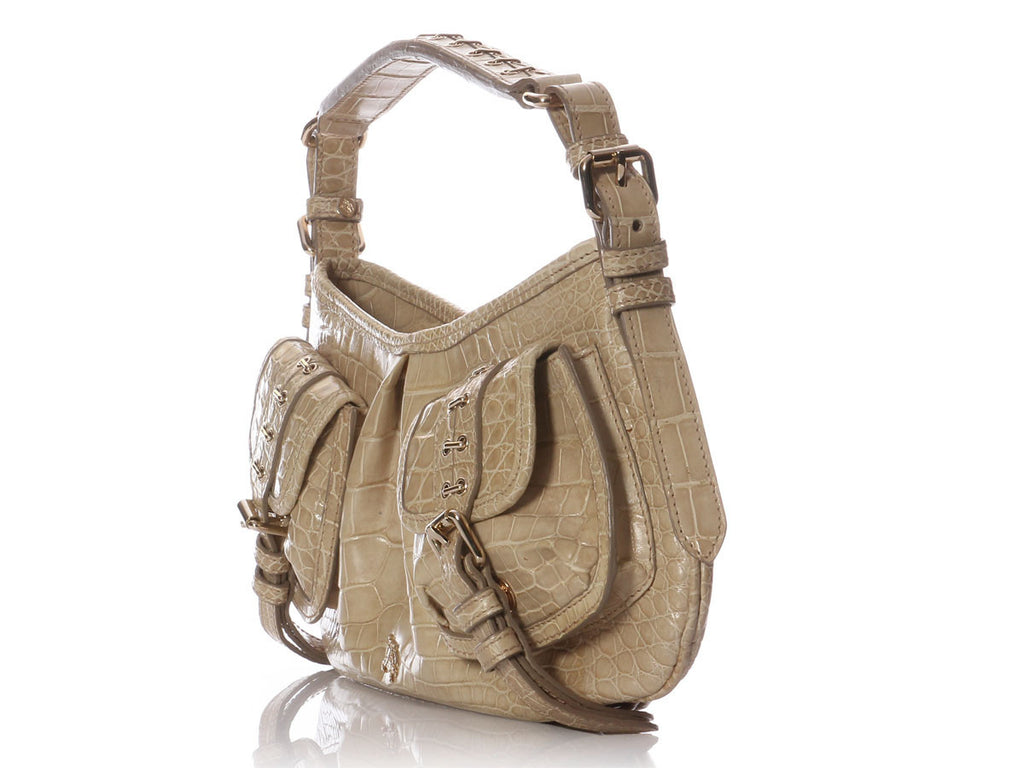 Burberry Alligator Trench Shoulder Bag