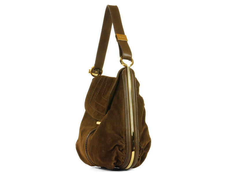 Jimmy Choo Brown Suede Hobo