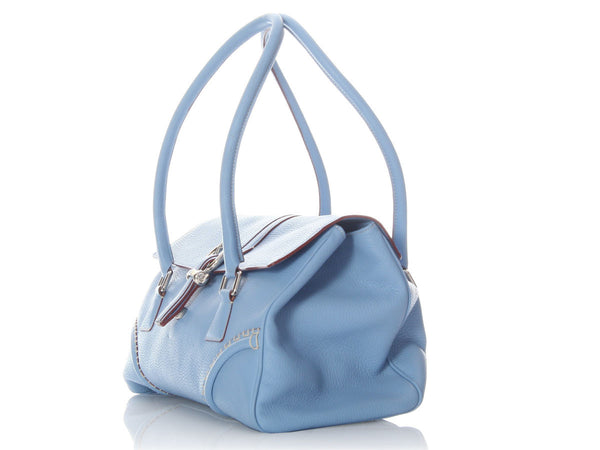 Burberry Light Blue Satchel