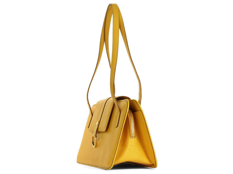 Burberry Yellow Leather Bag