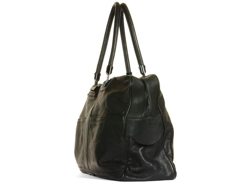 Burberry Prorsum Black Leather Weekender
