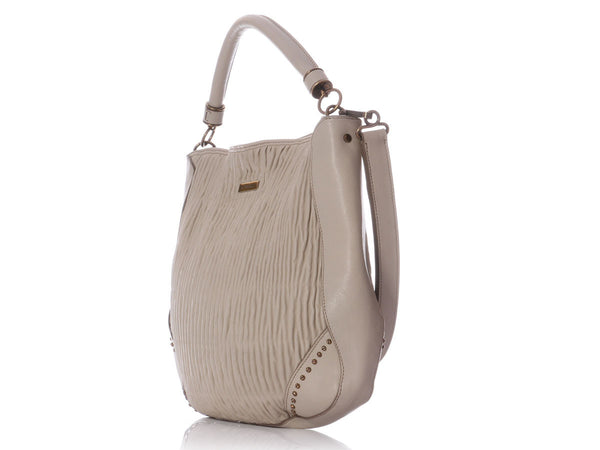 Burberry Taupe Hobo
