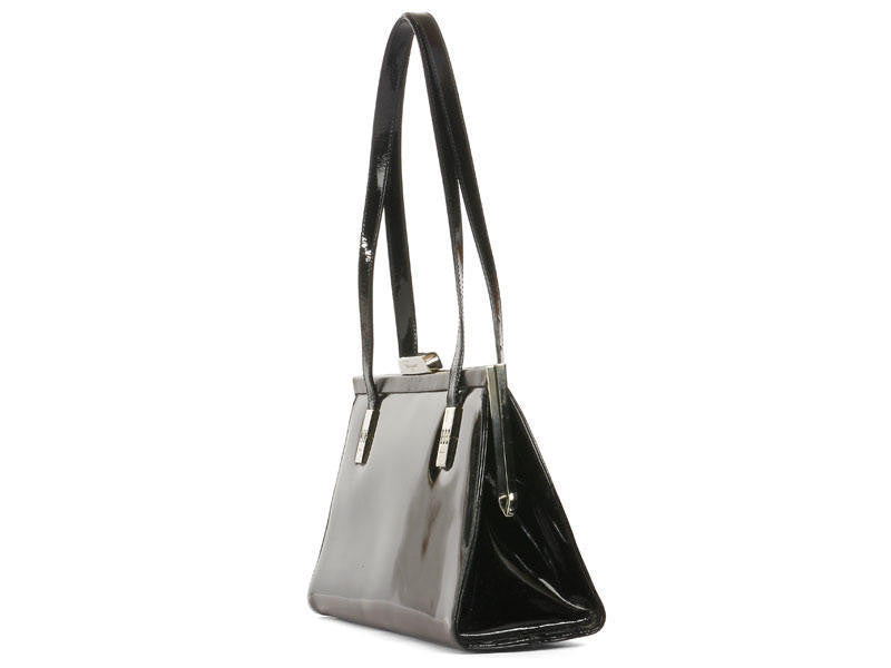 Ferragamo Black Patent Bag