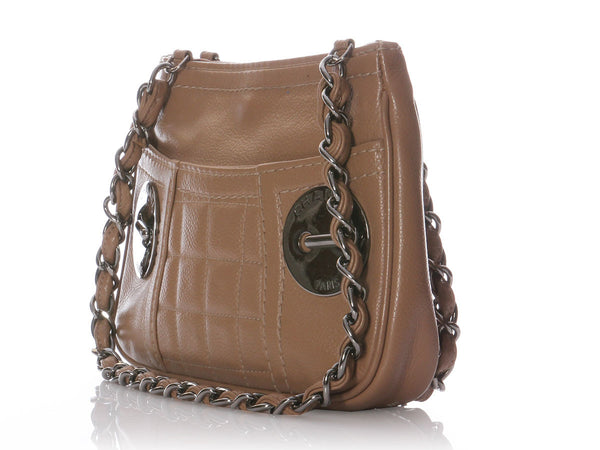 Chanel Taupe Leather Bag