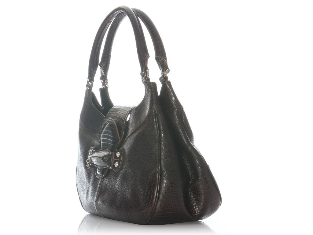Tod's Brown Mascherina Shoulder Bag