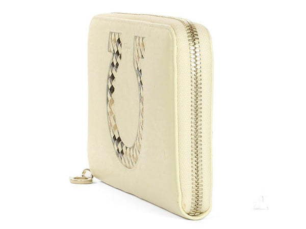 Ferragamo Magnolia Cream Long Wallet