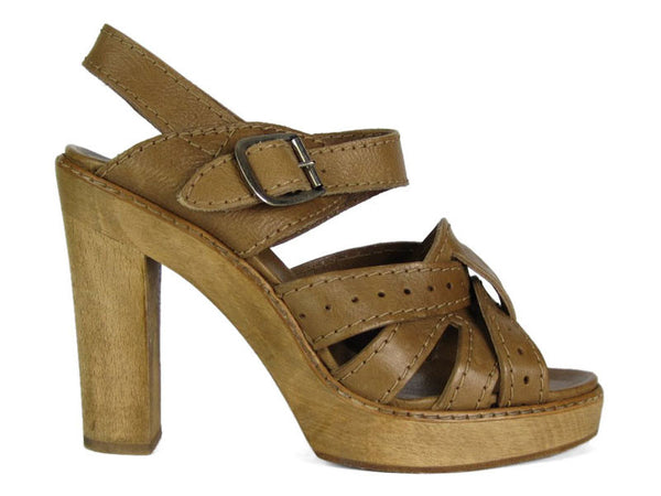 Chloé  Brown Platform Sandals