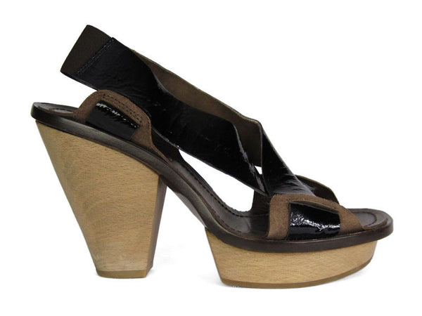 Marni Brown Patent Shoes