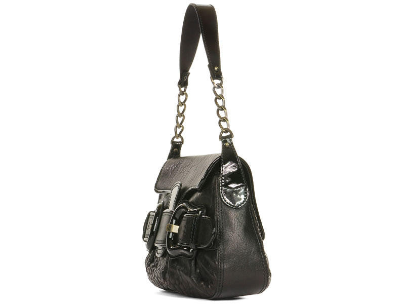 Fendi Black Leather B-Bag