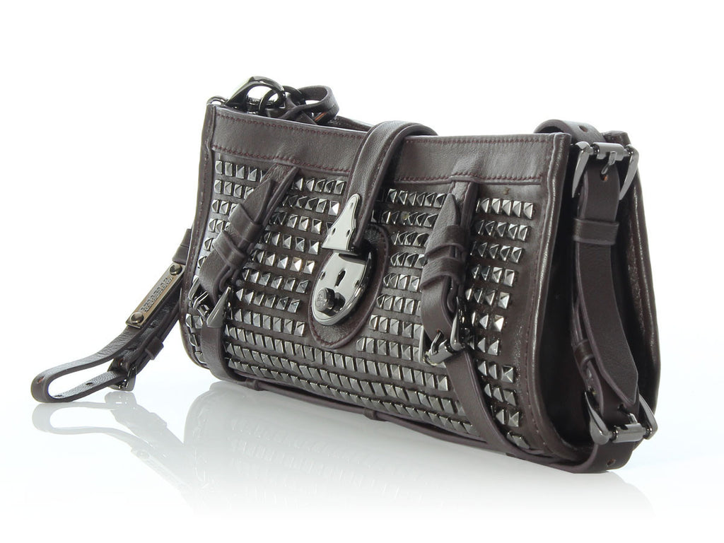 Burberry Brown Studded Clutch
