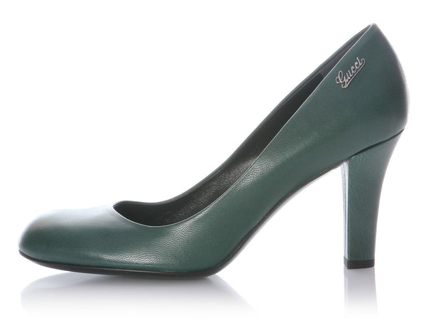 Gucci Green Quentin Pumps