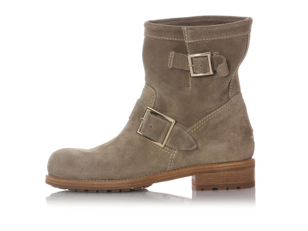 Jimmy Choo Youth Suede Light Khaki Booties