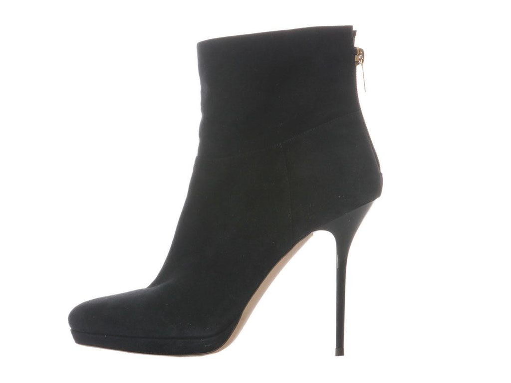 Jimmy Choo Navy Suede Alanis Booties