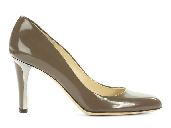 Jimmy Choo Gray Patent Pumps