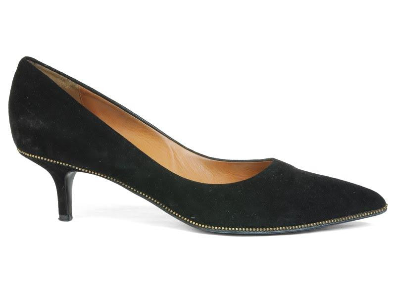 Givenchy Black Suede Pumps