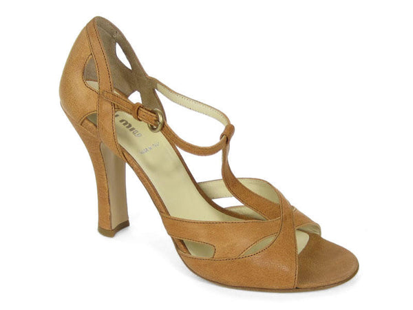 Miu Miu Light Brown T-Straps