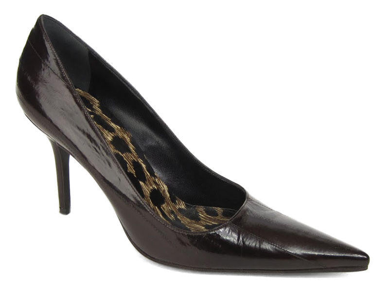 Dolce & Gabbana Brown Eel Pumps