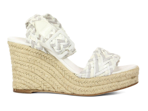 Hermès Braided Leather Espadrille Sandals
